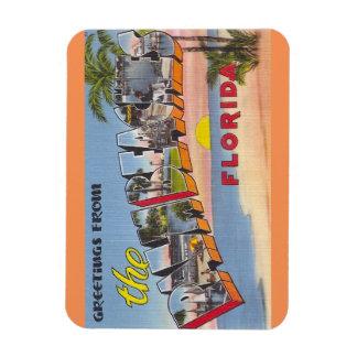 Florida handflatan sätter på land magneten magnet