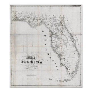 Florida karta 1837 poster