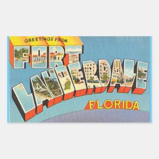 Florida lakan av 4 Fort Lauderdale klistermärkear Rektangulärt Klistermärke