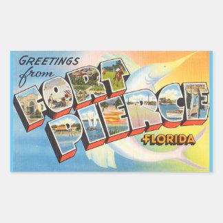 Florida lakan av 4 Fort Pierce klistermärkear Rektangulärt Klistermärke