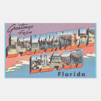 Florida lakan av 4 Jacksonville Bch. Rektangulärt Klistermärke