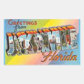 Florida lakan av 4 Jacksonville klistermärkear Rektangulärt Klistermärke