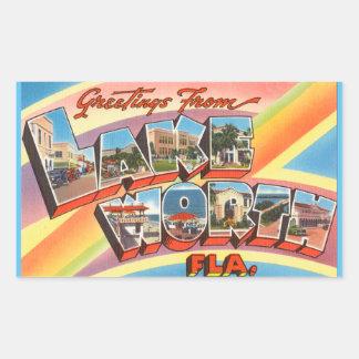 Florida lakan av 4 sjövärdklistermärkear rektangulärt klistermärke
