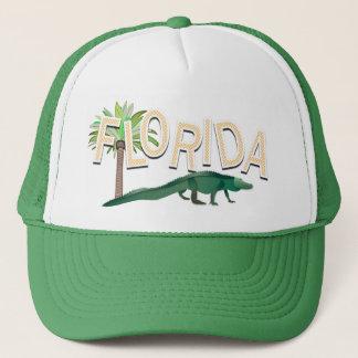 Florida palmträd och alligator truckerkeps