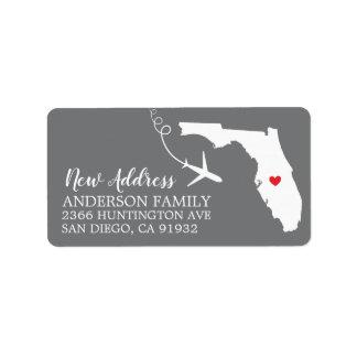 Florida påstår | den nya hem- returadressetiketten adressetikett