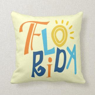 Florida rolig typografisk design kudde