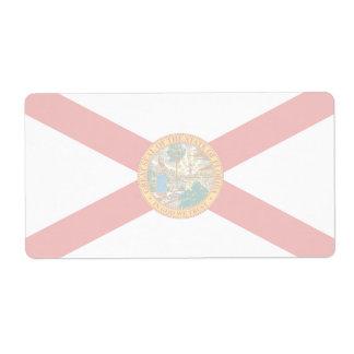 Florida svimmar flaggasändningsetiketten fraktsedel