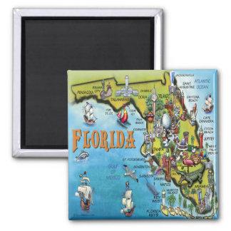 Florida tecknadkarta magnet