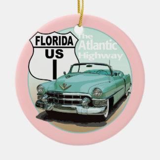 Florida US rutt 1 - den atlantiska huvudvägen Julgransprydnad Keramik
