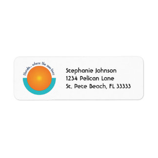 Florida…, Var solen bor returadressen Returadress Etikett