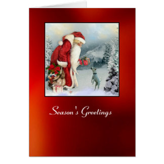 Floror & pappa jul hälsningskort