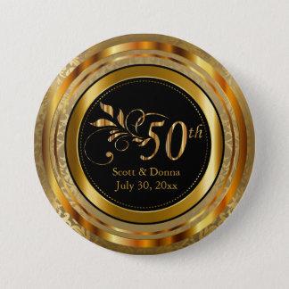 Flott 50th guldbröllopårsdag mellanstor knapp rund 7.6 cm