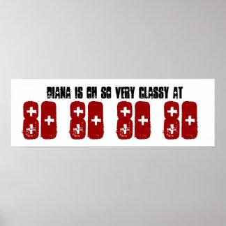 Flott 80th födelsedagsfestbanerGrunge Z60D Affischer