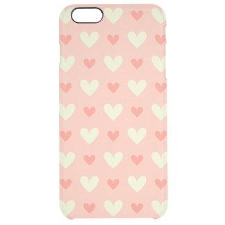 Flott behagfulla hjärtor - kärlek- och fredmönster clear iPhone 6 plus skal