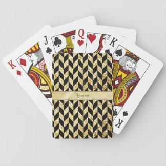 Flott eleganta guld- sparrar spel kort