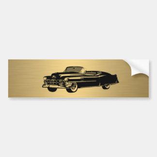 flott gammal bilpersonlig för lyxig guld- vintage bildekal
