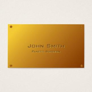 Flott guld- plast- kirurgvisitkort visitkort