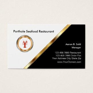 Flott havs- restaurang visitkort