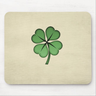 Flott irländsk lycklig Shamrock Musmatta