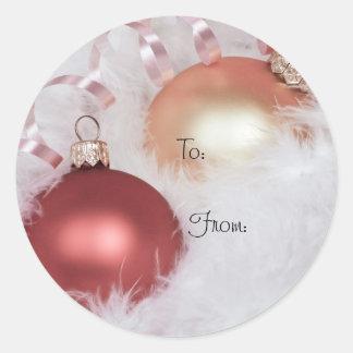Flott juletiketter runt klistermärke