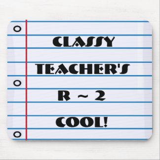 Flott lärare Notepaper Mousepad för coola för R 2 Musmatta