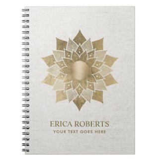 Flott linne för guld- lärare för anteckningsbok med spiral