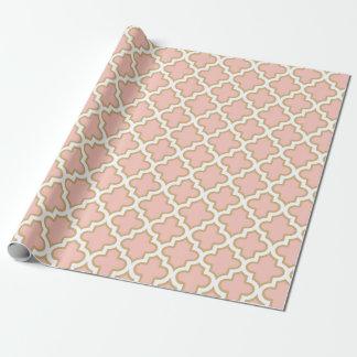 Flott mönster Quatrefoil för marockansk rosa Presentpapper