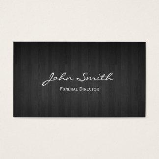 Flott mörk Wood begravnings- visitkort