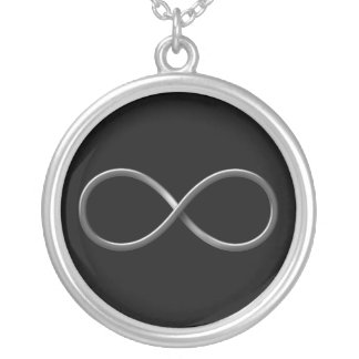 Flott regler för vetenskap för oändlighetssymbol | silverpläterat halsband