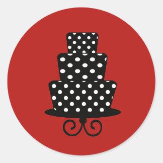 Flott röda & svart klistermärkear runt klistermärke