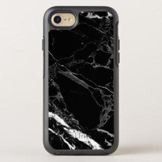 Flott struktur för stensvartmarmor OtterBox symmetry iPhone 7 skal