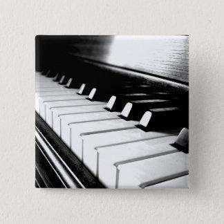 Flott svart- & vitpianofotografi standard kanpp fyrkantig 5.1 cm