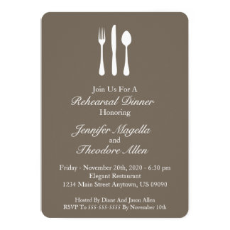 Flott Utensilsrepetition middag (smutsa ner 12,7 X 17,8 Cm Inbjudningskort