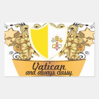 Flott Vatican Rektangulärt Klistermärke