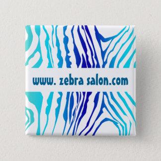 Flott zebra mönstrad professionell för turkosblått standard kanpp fyrkantig 5.1 cm
