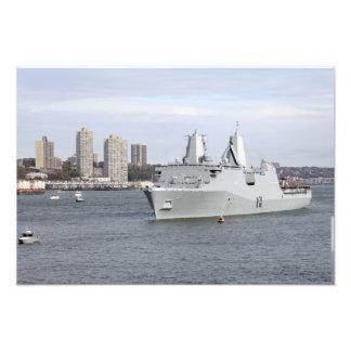 Flottor och sjömän bemannar stängerna fototryck
