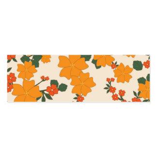 [FLOW-005] Retro orangeblommor Set Av Smala Visitkort