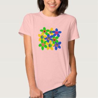 Flower power 60s-70s 2 tee shirt