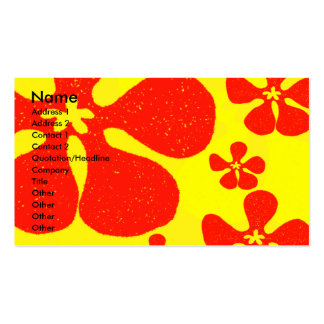 Flower power set av standard visitkort