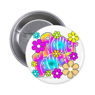 Flower power standard knapp rund 5.7 cm