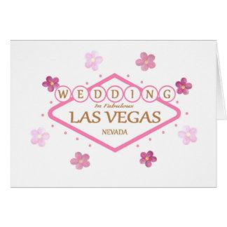 Flower powerBRÖLLOP i det sagolika Las Vegas korte Hälsningskort