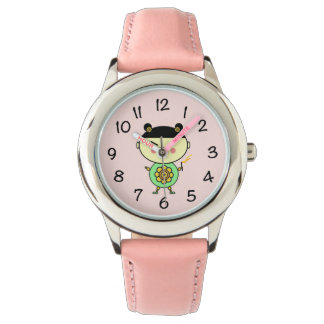 Flower powerflicka armbandsur