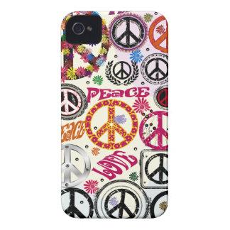 Flower powerfred- & kärlekHippie iPhone 4 Case-Mate Skydd