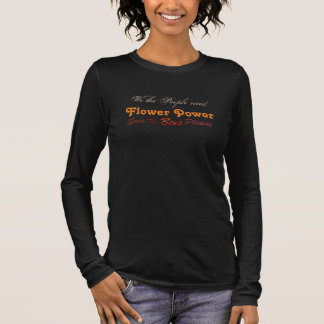 Flower powerkvinna skjorta t shirt