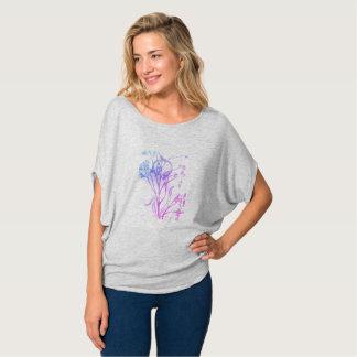 flowy kanfas cirklar bästa grå färg 2xl tee shirt