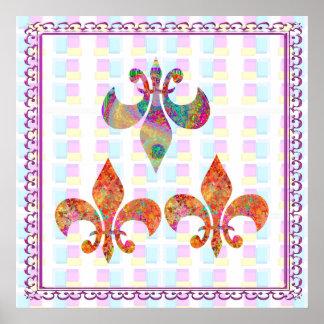Fluer-de-Lis: Lyckliga mönster Poster