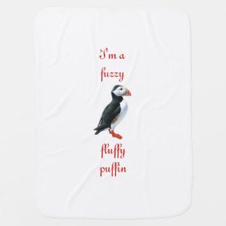 Fluffig Puffin Bebisfilt