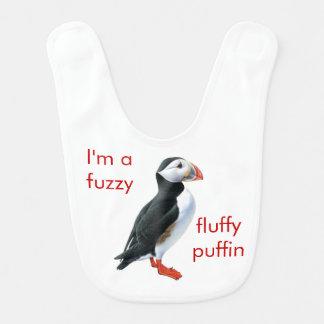 Fluffig Puffinbabyhaklapp Hakklapp