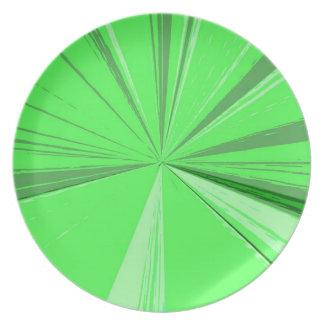 Fluorescerande försvinna för grönt pekar middagen tallrik