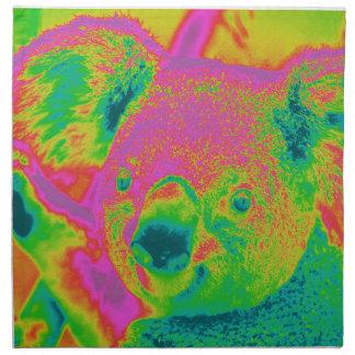fluorescerande koalabjörnar tygservett